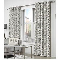 Product photograph showing Fusion Haldon Lined Eyelet Curtains
