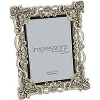 Product photograph showing Impressions Antique Floral Resin Photo Frame Ndash 5 X 7 Inch