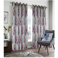 Product photograph showing Dark Wonders Lined Eyelet Curtains