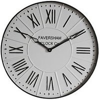 Product photograph showing Gallery Burnett Wall Clock - White
