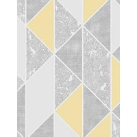 Product photograph showing Superfresco Milan Geo Wallpaper Ndash Yellow
