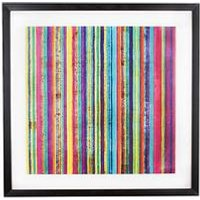 Product photograph showing Graham Brown Neon Stripe Framed Wall Art