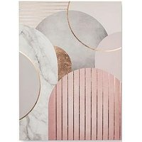 Product photograph showing Graham Brown Pink Amp Grey Art Deco Canvas Wall Art