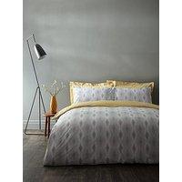 Product photograph showing Bianca Cottonsoft Ziggurat 100 Cotton Duvet Cover Set
