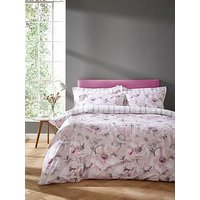 Product photograph showing Bianca Cottonsoft Arctic Poppy 100 Cotton Duvet Cover Set