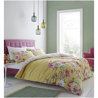 Product photograph showing Catherine Lansfield Lille Watercolour Floral Duvet Cover Set
