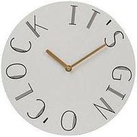 Product photograph showing Premier Housewares Mimo Gin O Clock Wall Clock