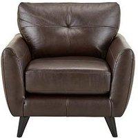 Product photograph showing Boston Leather Armchair