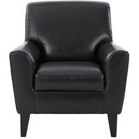 Product photograph showing Warren Leather Armchair