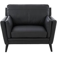 Product photograph showing Lincoln Leather Armchair