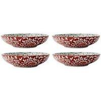 Product photograph showing Maxwell Williams Boho Batik Grey Coupe Bowl - Set Of 4