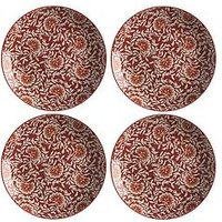 Product photograph showing Maxwell Williams Boho Damask Red Dinner Plates Ndash Set Of 4