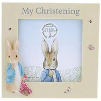 Product photograph showing Peter Rabbit Christening Photo Frame
