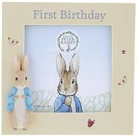 Product photograph showing Peter Rabbit 1st Birthday Photo Frame