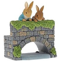 Product photograph showing Peter Rabbit Over The Bridge Figurine