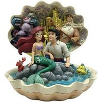 Product photograph showing Disney The Little Mermaid Shell Scene Figurine