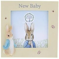 Product photograph showing Peter Rabbit New Baby Photo Frame