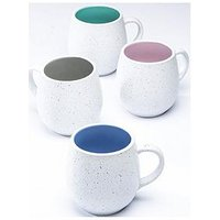 Product photograph showing Waterside Set Of 4 Speckled Hug Mugs