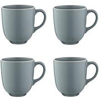 Product photograph showing Mason Cash Classic Collection Set Of 4 Mugs - Grey