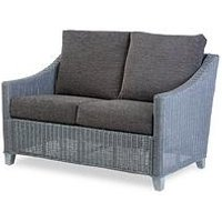 Product photograph showing Desser Dijon Grey Wash Conservatory 2 Seater Sofa