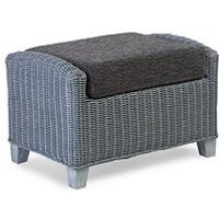Product photograph showing Desser Dijon Grey Wash Conservatory Footstool