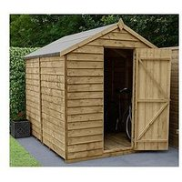 Product photograph showing Forest 8x6 Overlap Pressure Treated Apex Shed - Shed Only