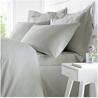 Product photograph showing Bianca Cottonsoft Bianca Egyptian Cotton Single Duvet Cover Set Ndash Silver