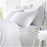 Product photograph showing Bianca Cottonsoft Bianca 100 Egyptian Cotton Super King Duvet Cover Set In White