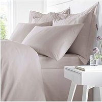 Product photograph showing Bianca Cottonsoft Bianca Egyptian Cotton Single Duvet Cover Set Ndash Blush