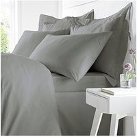 Product photograph showing Bianca Cottonsoft Bianca 100 Egyptian Cotton Double Duvet Cover Set