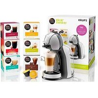 Nescafe Dolce Gusto Mini Me Automatic Coffee Machine Arctic Grey And Black Anthracite By Krups&Reg; Starter Kit