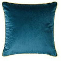 Product photograph showing Velvet Piped Cushion