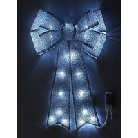 Product photograph showing Battery Operated Door Bow Silver