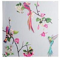 Product photograph showing Arthouse Birds Of Paradise Vinyl Wallpaper