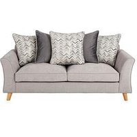 Product photograph showing Legato Fabric Scatter Back 3 Seater Sofa