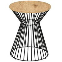 Product photograph showing Julian Bowen Jersey Round Wire Side Table