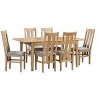 Julian Bowen Cotswold 140-180 Cm Extending Dining Table + 6