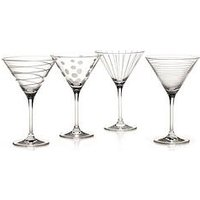 Product photograph showing Cheers Martini Glasses Ndash Set Of 4