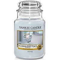 Product photograph showing Yankee Candle A Calm Amp Quiet Place Large Classic Jar Candle
