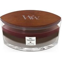 Product photograph showing Woodwick Ellipse Trilogy Candle Ndash Forest Retreat