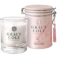 Product photograph showing Grace Cole Wild Fig And Pink Cedar 200g Candle