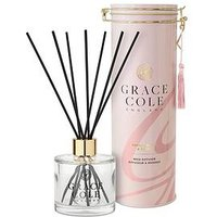 Product photograph showing Grace Cole Vanilla Blush And Peony 200 Ml Reed Diffuser