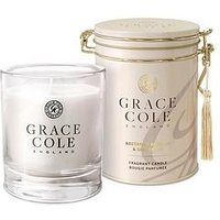 Product photograph showing Grace Cole Nectarine Blossom And Grapefruit 200g Candle
