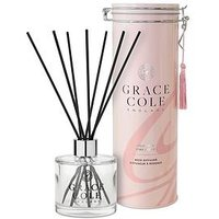 Product photograph showing Grace Cole Wild Fig And Pink Cedar 200 Ml Reed Diffuser