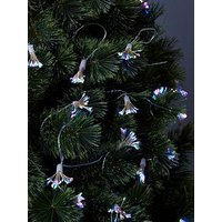 Product photograph showing Festive Starburst Battery Operated Christmas String Lights Ndash 5 7 Metre