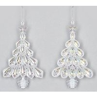 Product photograph showing Festive 2 Assorted Iridescent Christmas Tree Decorations