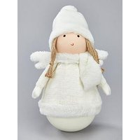 Product photograph showing Festive Tumble Angel In Jumper Room Ornament