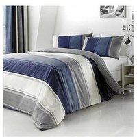 Product photograph showing Fusion Betley Duvet Cover Set In Blue