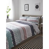 Product photograph showing Geo Bands Duvet Cover Set Twin Pack