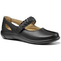 Hotter Shake Wide Fit Mary Jane Shoes - Black